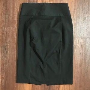 Express black high waisted pencil work skirt